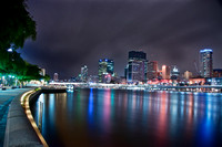 Brisbane City Lights Reflected